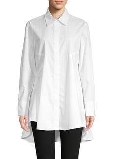 DKNY High-Low Cotton-Blend Tunic