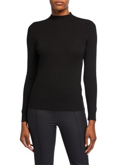 DKNY High-Neck Long-Sleeve Sweater