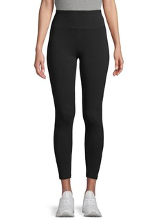 DKNY High-Waist Stretch-Cotton Leggings