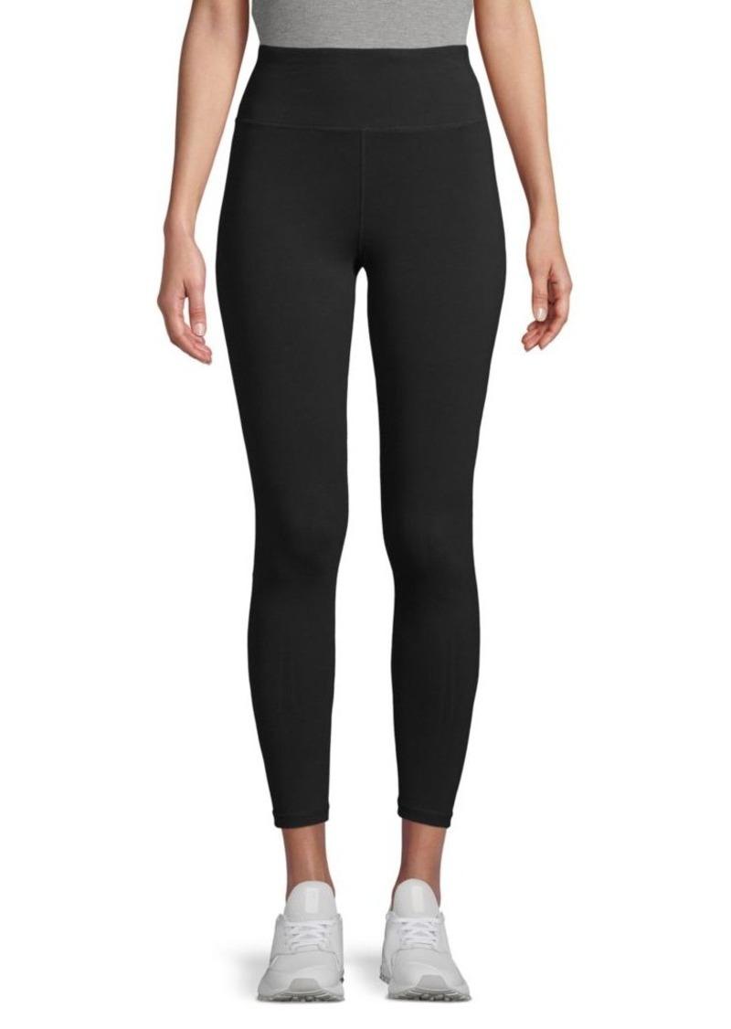 DKNY High-Waist Stretch-Cotton Leggings