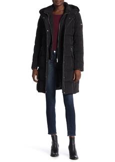 DKNY Hooded Down Coat