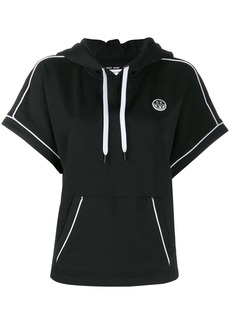 DKNY hooded short sleeve sweatshirt