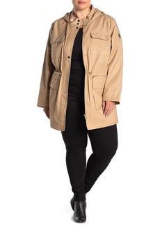 DKNY Hooded Utility Anorak Jacket (Plus Size)