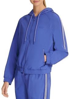 DKNY Hooded Zip-Front Jacket