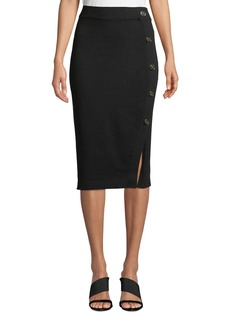 DKNY Horn Button Pull-On Pencil Skirt