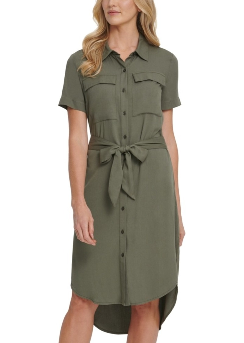 Dkny Jeans Belted Shirt Dress