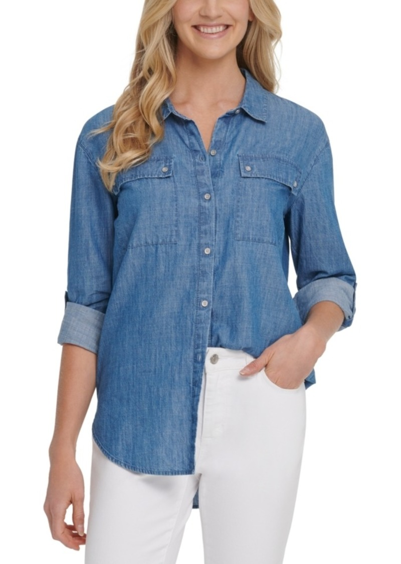 Dkny Jeans Button-Up Cotton Shirt