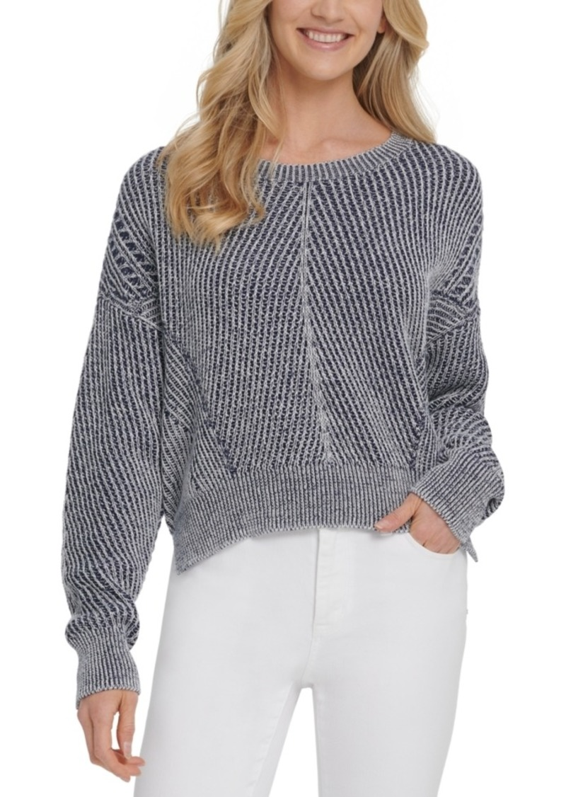 Dkny Jeans Chunky-Knit Pullover Sweater