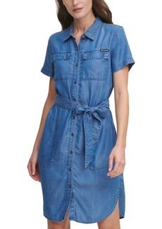 Dkny Jeans Juniors' Lyocell Shirtdress