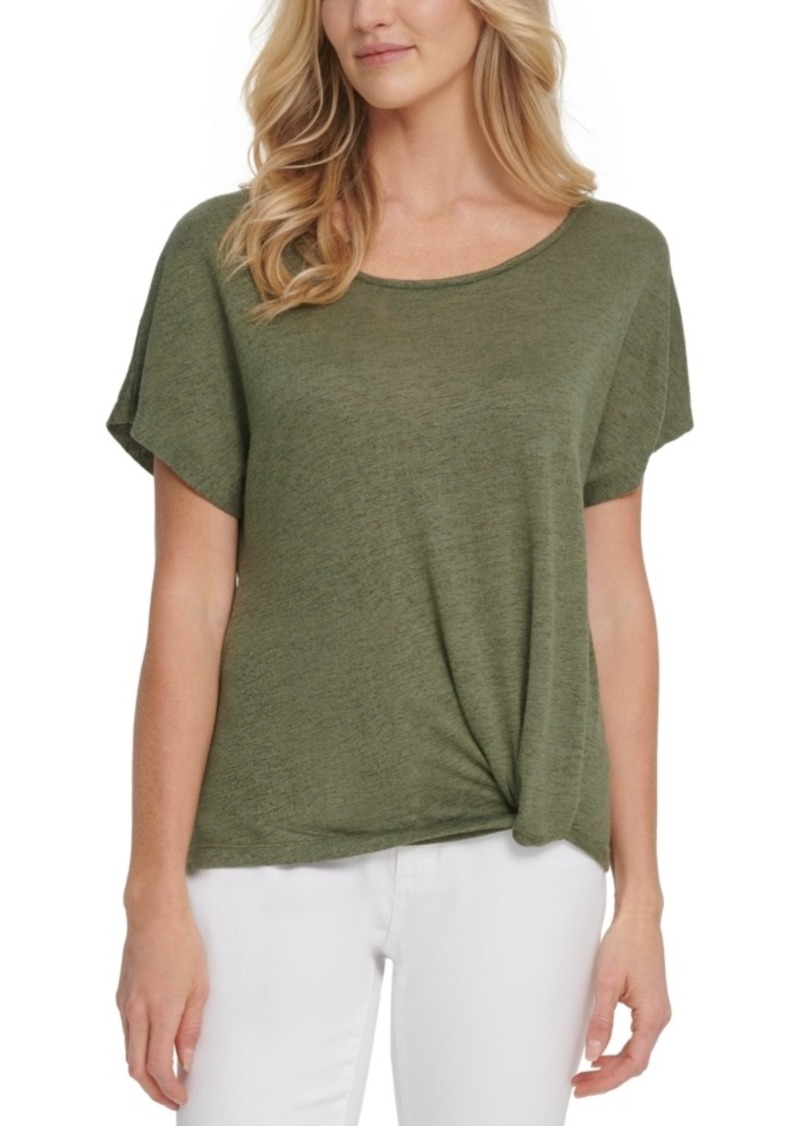 Dkny Jeans Knot-Front T-Shirt