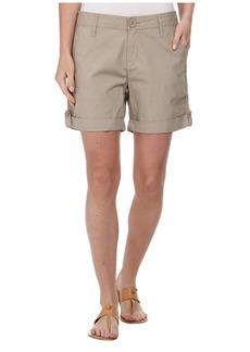 DKNY Jeans Poplin Shorts - Shorts w/ Lace Details in Baja