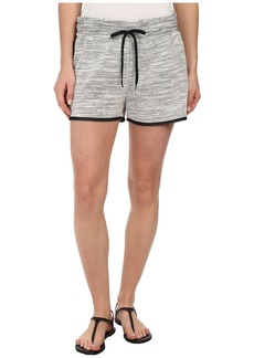 DKNY Jeans Textured Terry Mesh Trim Shorts in Polar Cream
