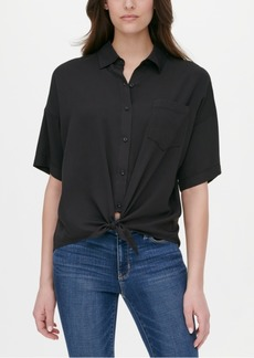 Dkny Jeans Tie-Front Shirt