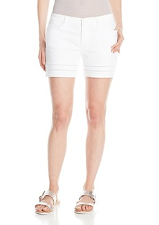 DKNY Jeans Women's Ladder Lace Denim Moto Short 5 Inch  02