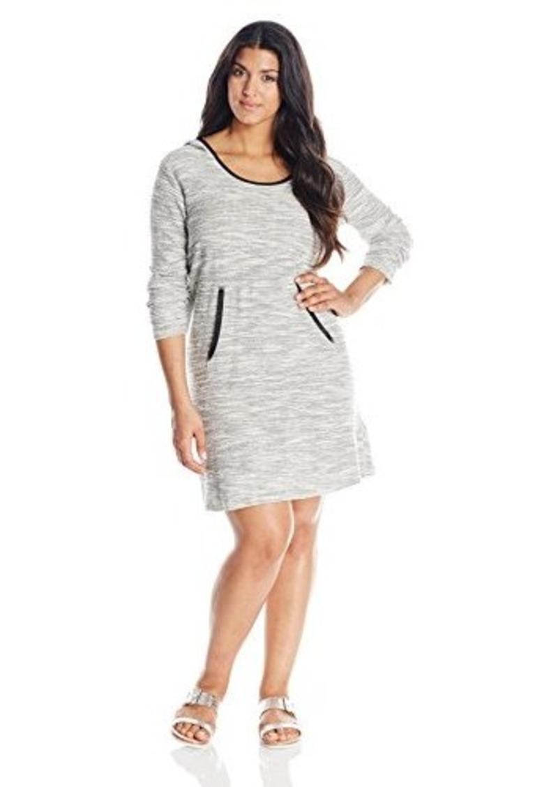 DKNY Jeans Women's Plus-Size Textured Hoodie Dress