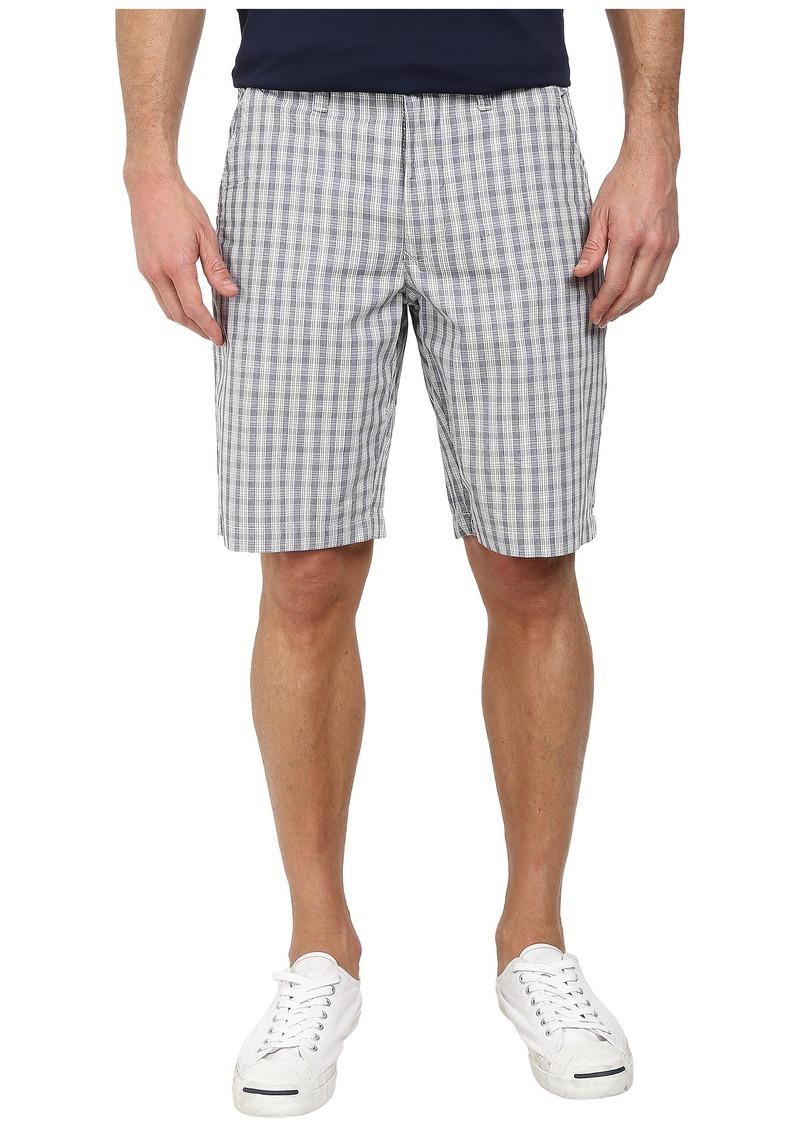 DKNY Jeans Yarn Dye Cotton Check Trouser Shorts