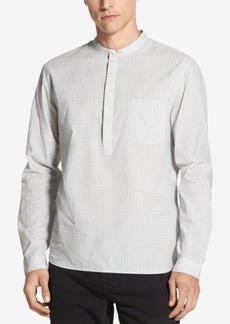 DKNY Jeans Dkny Men's Banded-Collar Grid-Print Shirt