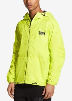 DKNY Jeans Dkny Men's Green Sheen Zip-Through Jacket