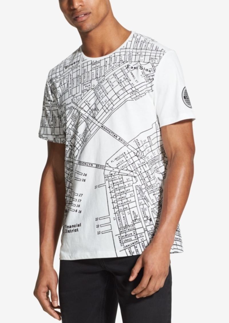 Sale Dkny Dkny Men S Nyc Street Map T Shirt Created For Macy S
