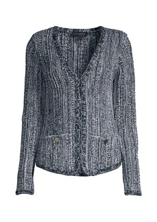 DKNY Knit Long-Sleeve Cardigan