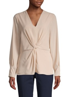 DKNY Knot V-Neck Top