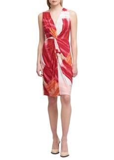 DKNY Knotted Sheath Dress
