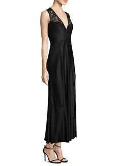 DKNY Lace-Accented Gown