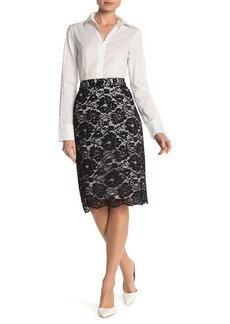 DKNY Lace Pencil Skirt