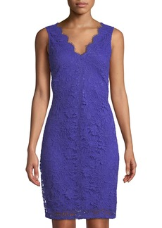 DKNY Lace Sleeveless V-Neck Sheath Dress