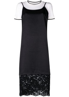 DKNY lace trim shift dress