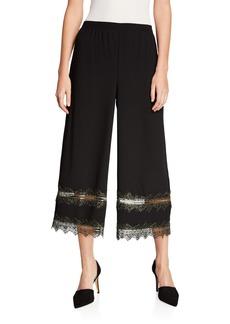 DKNY Lace-Trim Wide-Leg Pants