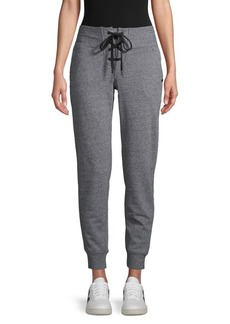DKNY Lace-Up Cotton-Blend Jogger Pants