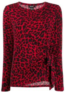 DKNY leopard print blouse