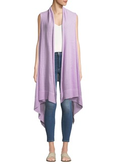DKNY Linen Long Handkerchief Cardigan Vest