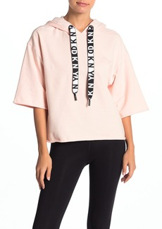 DKNY Logo Boxy 3/4 Sleeve Sweatshirt