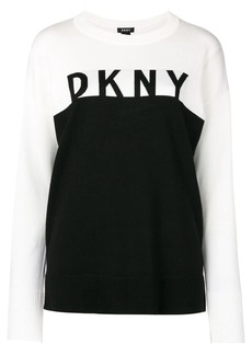 DKNY logo contrast sweater