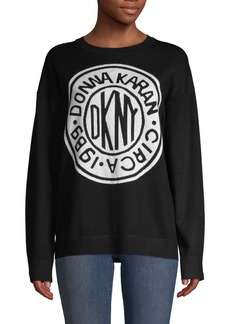 DKNY Logo Crewneck Sweater