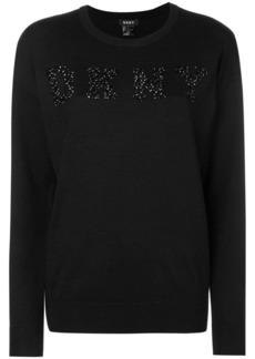 DKNY logo embellished sweater