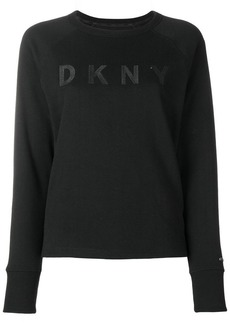 DKNY logo embroidered sweatshirt