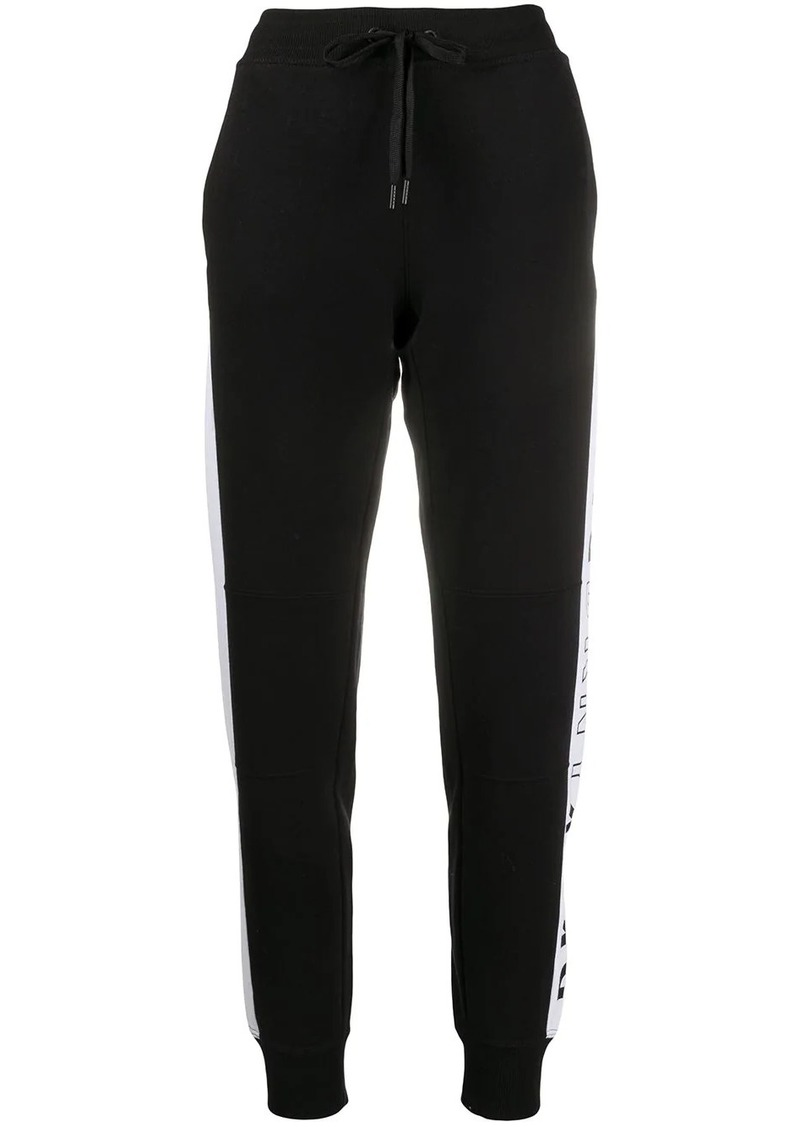 DKNY logo-flip slim-fit track pants