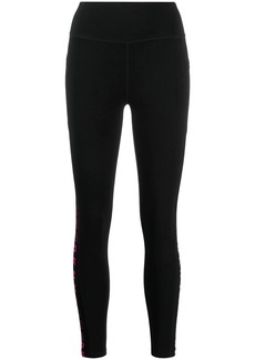 DKNY logo high-rise leggings