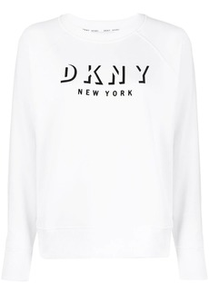 DKNY logo print relaxed-fit sweatshirt