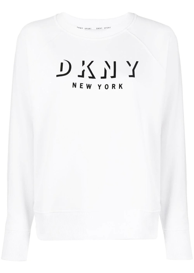 DKNY logo print relaxed-fit sweatshirt