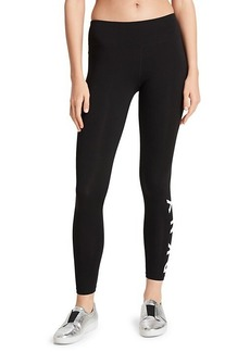 DKNY Logo-Print Stretch-Cotton Leggings