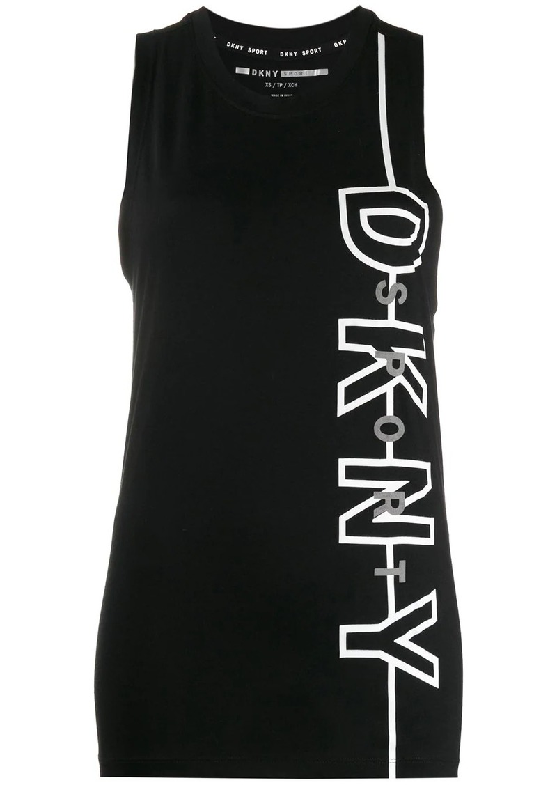 DKNY logo-print sleeveless top