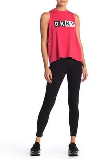 DKNY Logo Stretch Knit Leggings