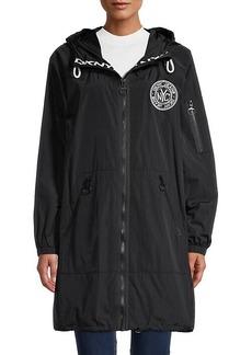 DKNY Logo Stretch Rain Jacket