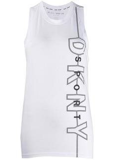 DKNY logo-print sleeveless top