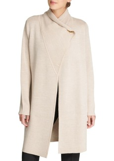 DKNY Long Button-Front Cardigan