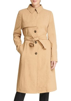 DKNY Long Button Trench Coat